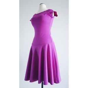 Shabby Apple Magenta May Drop Waist Dress